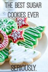Colorful Christmas cookies on a plate