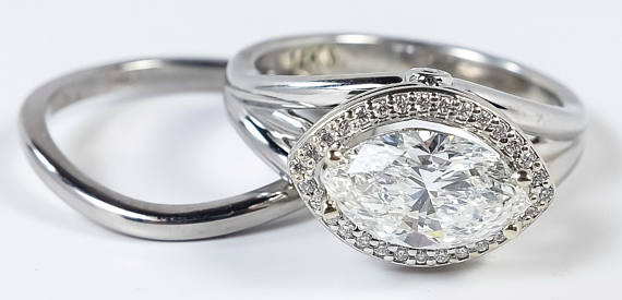 Bringing Back the Marquise Shaped Diamond Engagement Ring