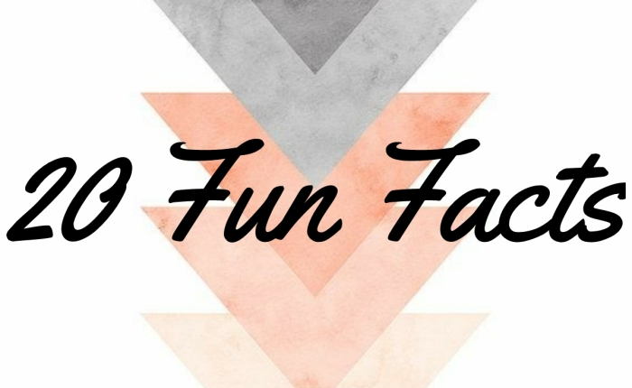 Blog Challenge #2:   20 Random Fun Facts About Me